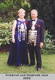 Friedrich und Sieglinde Jeck - 2000